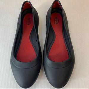 Crocs Lina Black Ballet Flats